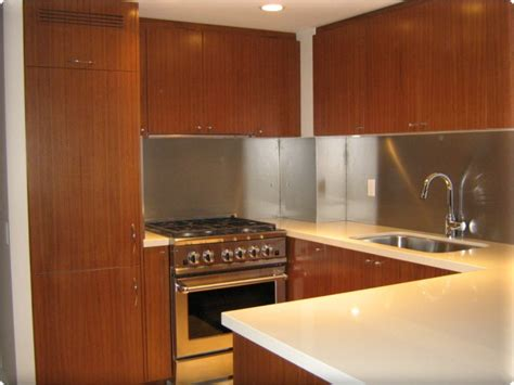 kitchen backsplash stainless steel custom metal home metal backsplash panels