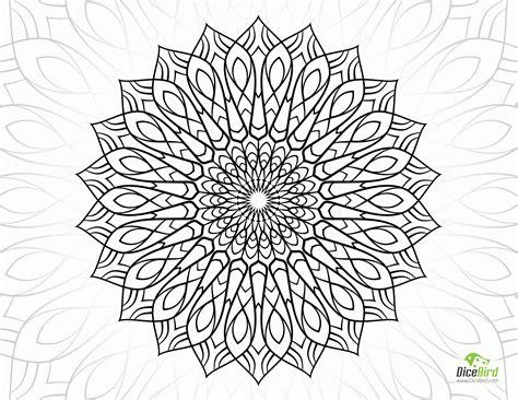 complex mandala coloring pages complex flower coloring pages coloring home