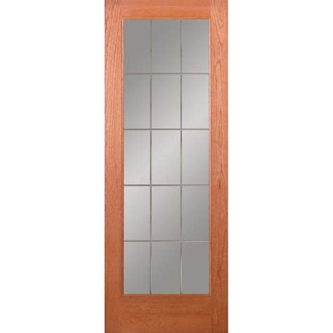 feather river doors 30 in x 80 in privacy smooth 1 lite feather river doors 30 in x 80 in 15 lite illusions