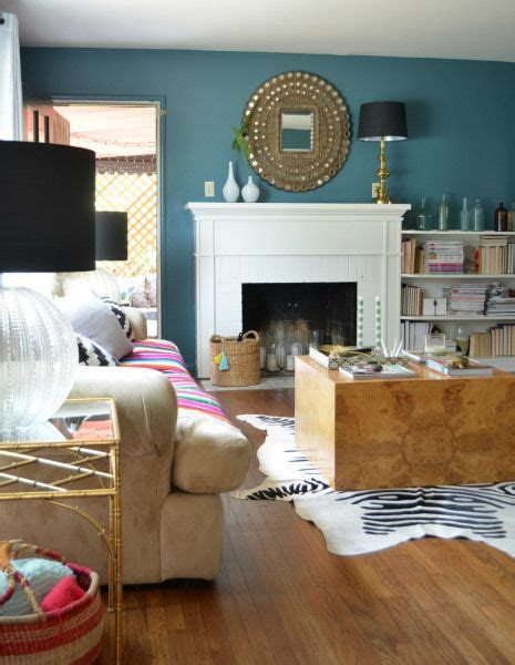 behr sophisticated teal wall color via sg style interior