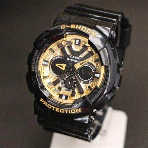 Jam G Ci Bulat Black jam tangan g shock ga 120 black gold rp 85 000 kw
