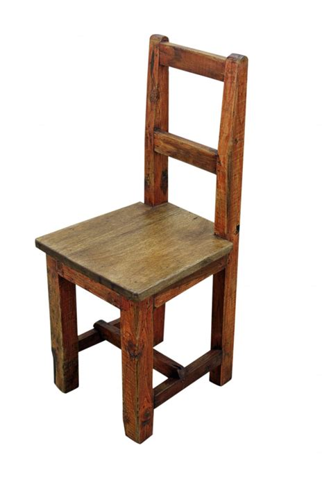 small wooden chair designs rustic oak material