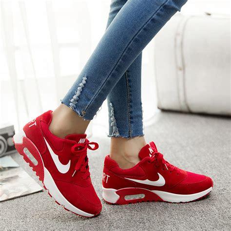 Nike Wedges Pink Sneakers Sport Casual Running Senam shoes 2015 fashion wedge sneakers low top air