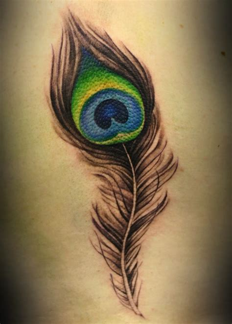 colored feather tattoo designs feather designs