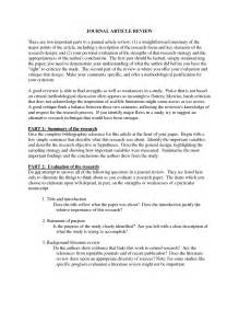 Review Article Sle Outline by Best Photos Of Journal Critique Exle Article Critique
