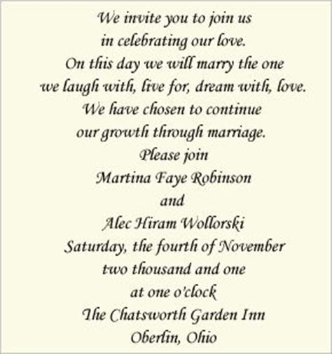 unique wedding invitation wording hosting the world s catalog of ideas