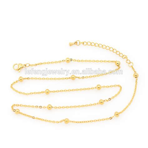 different types of necklace chains jewelry artificial gold