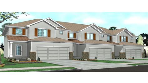 townhome designs townhouse floor plans 1 story townhouse with garage plans