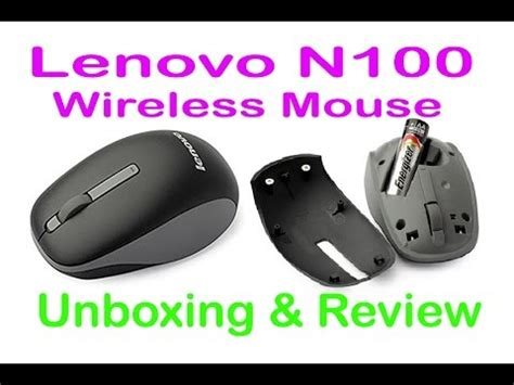 Mouse Wireless Lenovo N100 T1910 5 lenovo wireless mouse n100 unboxing review