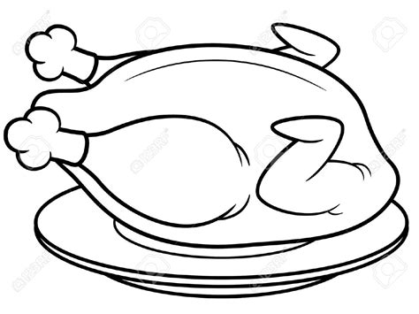 Cooked Chicken Drawing