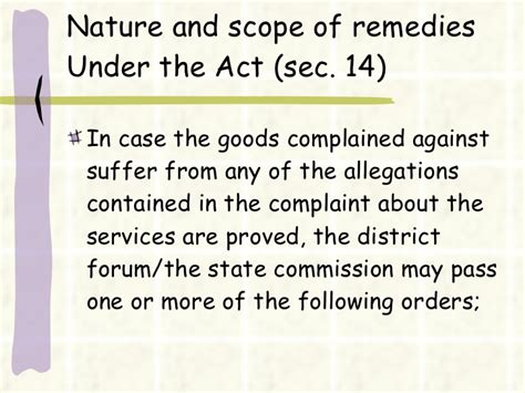 section 14 of consumer protection act 25219514 consumer protection act ppt 1