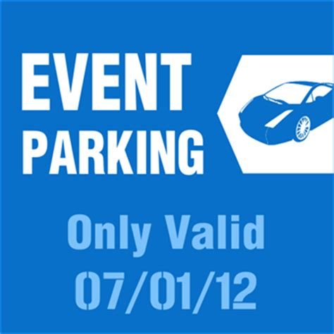 Event Parking Pass Parking Sign Signazon Parking Pass Template