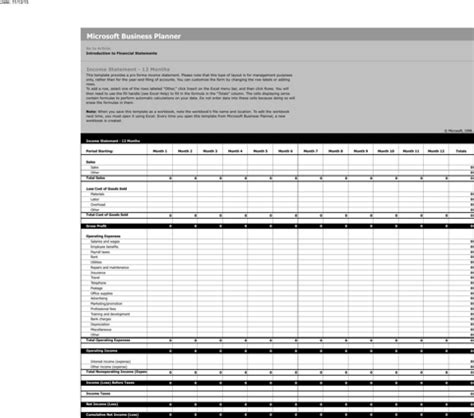 download income statement template for free formtemplate