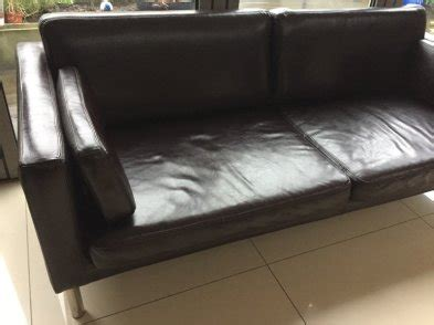 faux leather couch conditioner ikea faux leather sofa excellent condition for sale in