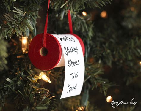 easy to make christmas decorations at home make a christmas list ornament honeybear lane