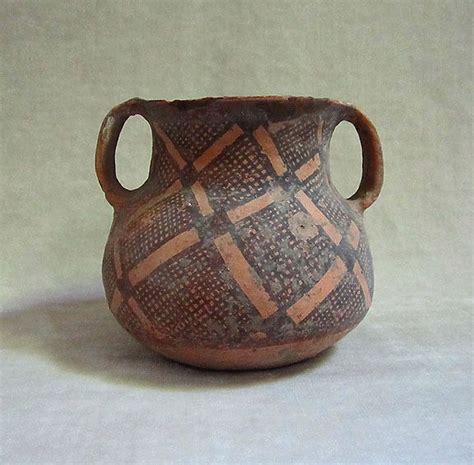 Yangshao Culture Vases by Ancient Neolithic Pottery Vessel Kansu Yangshao