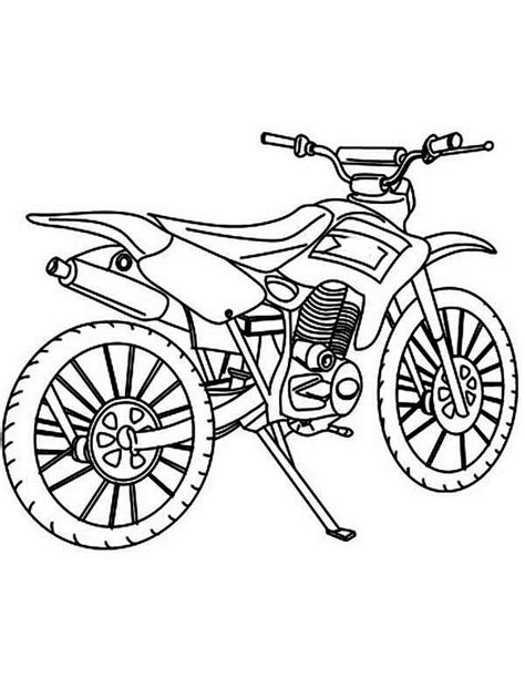 how to draw a motocross bike free coloring pages of motorcross bikes