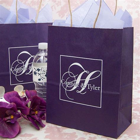 custom bridal shower gift bags 2 8 x 10 submit your own artwork kraft gift bags set of 25
