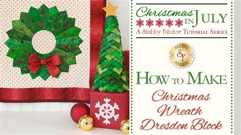 how to make a christmas wreath dresden block with