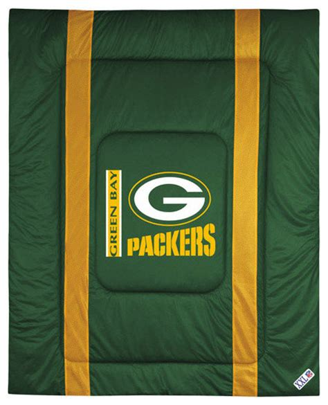 green bay packers bedroom nfl green bay packers comforter sidelines football bed