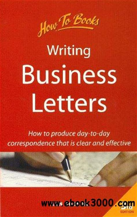 business letter writing books pdf writing business letters how to produce day to day