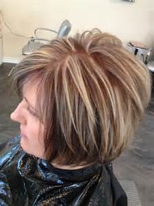 layred hairstyles eith high low lifhts hairstyle short layered bob with blonde highlights low