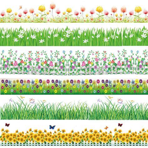 Jw Wallpaper Sticker Pink Grass 2017 grass pea flower border wallpaper decals garden plants vinyl wall stickers