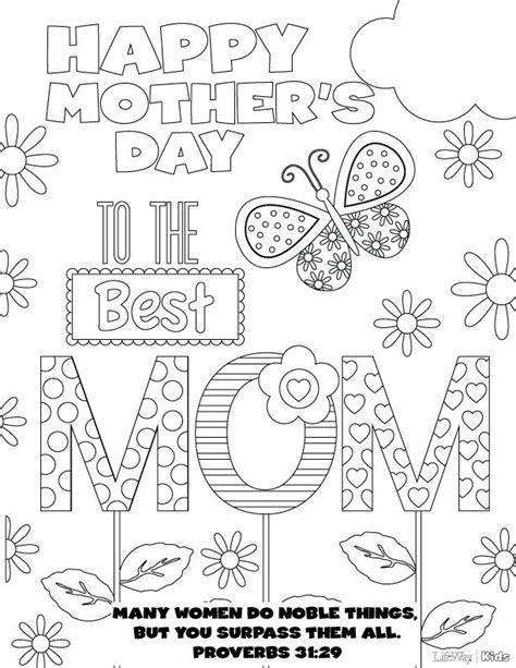 celebrate mother s day with these free coloring pages