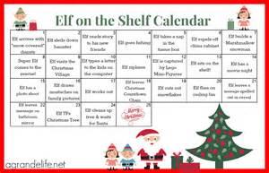 on the shelf calendar