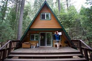 tiny a frame cabin in the woods a frame tiny house swoon