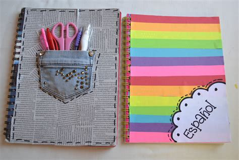 ideas para forrar libretas decora tus cuadernos regreso a clases youtube