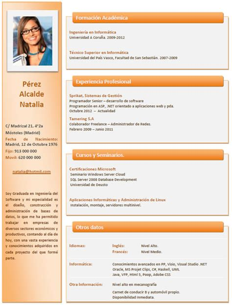 Plantillas De Curriculum Para Ingenieros Ejemplos Y Plantillas De Curriculum En Ingl 233 S Trabajar En Inglaterra Cvexpres Page 7