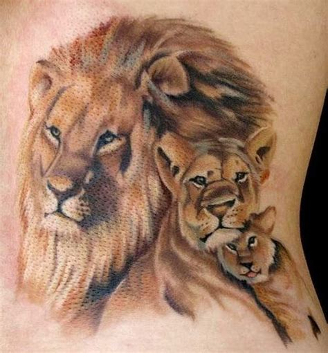 lion family tattoo 30 amazing and cub ideas 2018