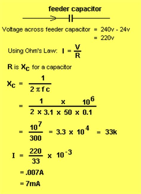 capacitor bleeder resistor value the power supply