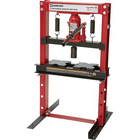 10 Ton Hydraulic Floor Press by Strongway 12 Ton Hydraulic Shop Press Northern Tool