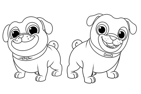 Puppy Coloring Sheet by Puppy Pals Coloring Pages To Print