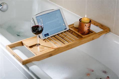 bathtub rack tray 5 bamboo bathtub caddies that you can buy right now