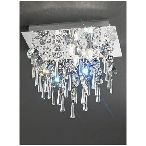 crystal bathroom ceiling light franklite small square crystal bathroom ceiling light