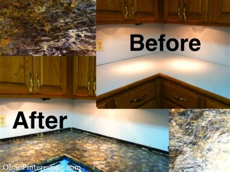 Countertop Paint Before And After by From Boring To Wow In Less Than 24hrs With Oh