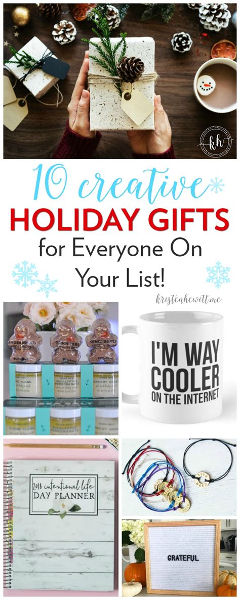 10 creative holiday gifts for everyone on your list