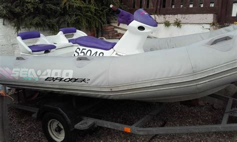 inflatable boat jet seadoo explorer rib inflatable jet boat on trailer in