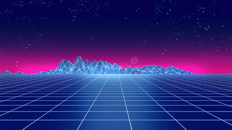 imagenes retro futuristas retro futuristic background 1980s style 3d illustration