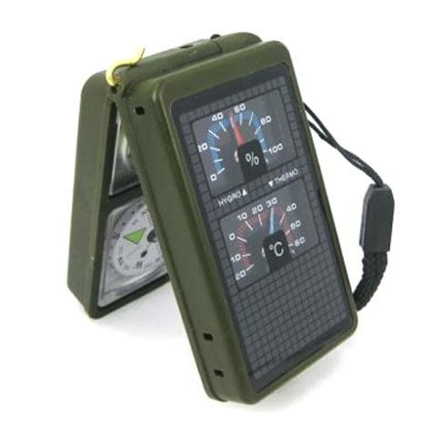 Multifunction 10 In 1 Portable Compass T1310 4 10 in 1 thermometer hygrometer led light reflector spirit level compass whistle flint