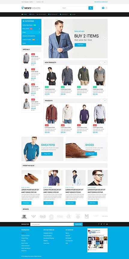 layout building instructions magento masculine elegance magento themes