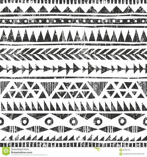 vector hand drawn tribal print primitive stock vector