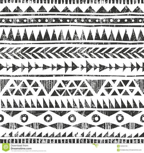 tribal pattern drawn vector hand drawn tribal print primitive stock vector