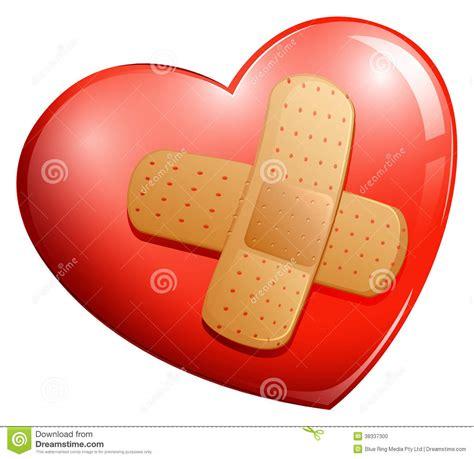 een dierenspeciaalzaak met een u een hart met een pleister vector illustratie illustratie