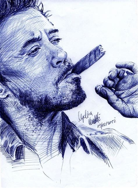 Sketches With Pen by Robert Downey Jr Ballpoint Pen Result By
