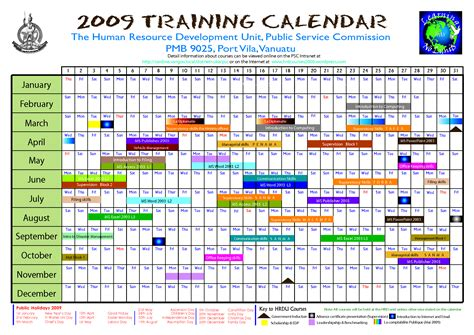 training calendar template great printable calendars
