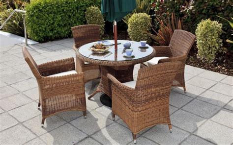 meuble patio rotin meubles de patio table dner patio ronde delia pour